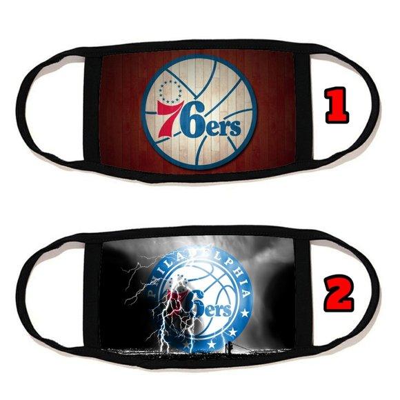 2 PACKS Philadelphia 76ers face mask face cover